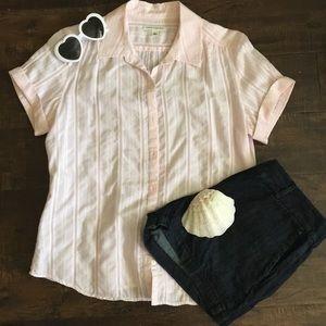 Banana Republic Pink Button Front Shirt